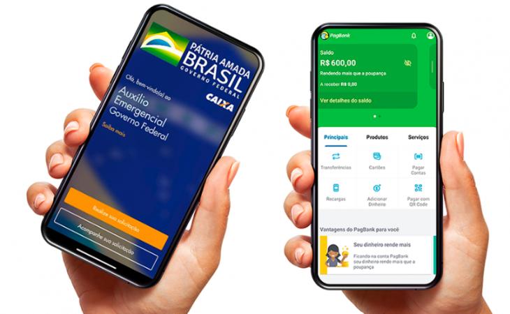 PagBank permite receber pagamento de parcela do auxílio emergencial antecipado