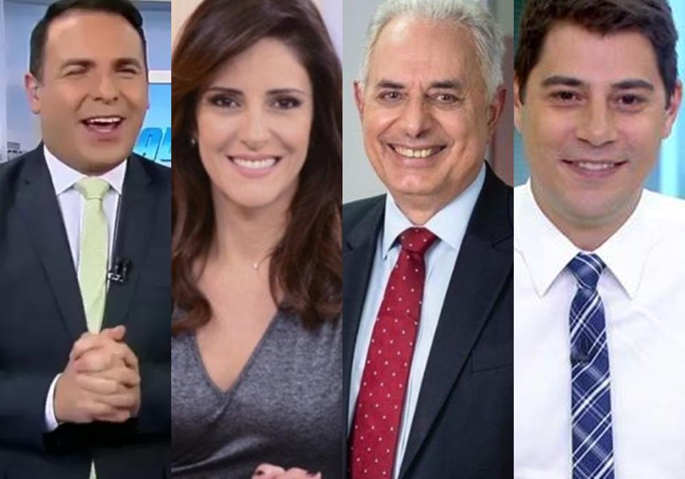 Reinaldo Gottino, Monalisa Perrone, William Waack e Evaristo Costa já foram contratados pela CNN Brasil. (Foto: Reprodução)