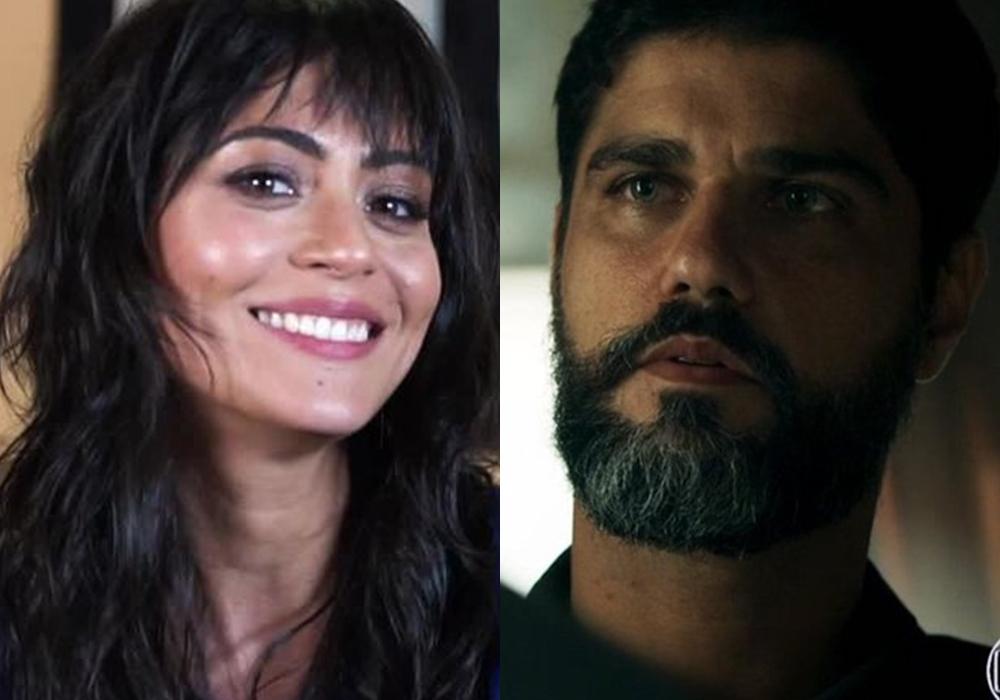 Casal da novela Órfãos da Terra, trama exibida na faixa das seis e que entrou na reta final na Globo. (Foto: Reprodução/Montagem)