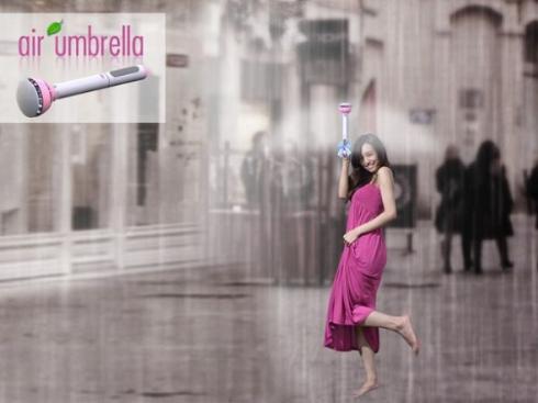 """Guarda-chuva de """"ar"""" mantém você seco usando um campo de força; veja vídeo"""