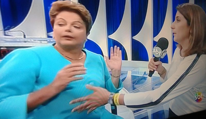 Dilma passa mal ao vivo após debate do SBT