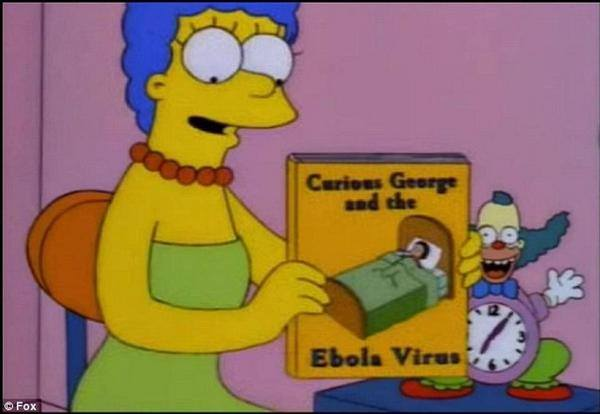 Personagem de 'Os Simpsons' previu o surto do vírus Ebola em 1997