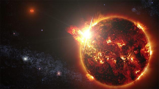 NASA detecta o maior surto já registrado de uma estrela anã vermelha