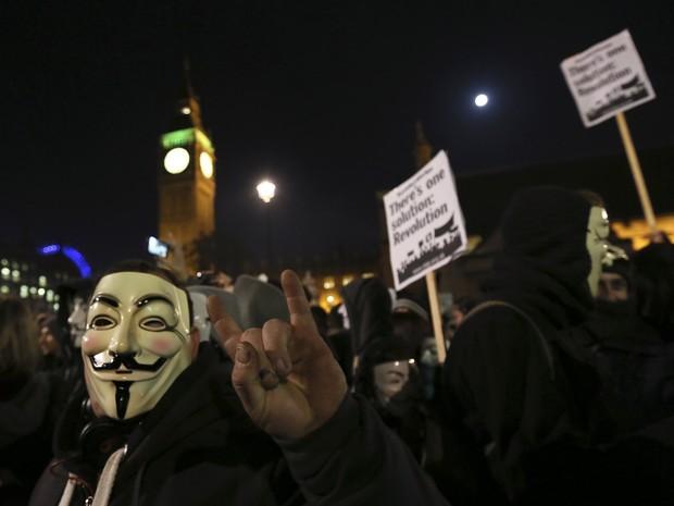 Protesto termina com 5 presos em Londres