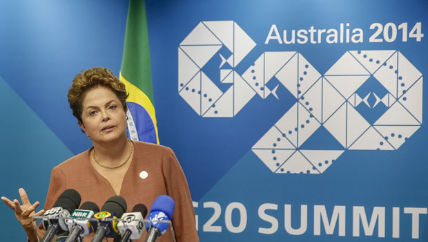 """Dilma Rousseff afirma que momento de dificuldade econômica do país é """"temporário"""""""