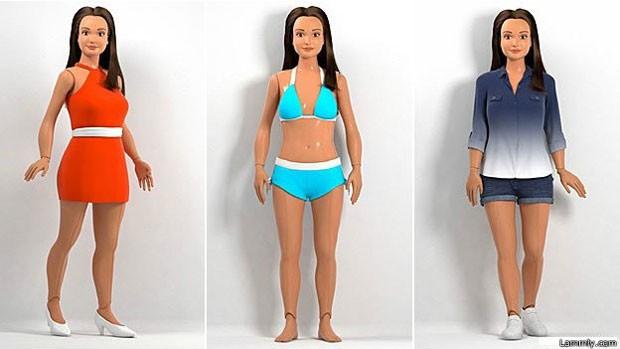 Boneca com padrão de beleza realista é desenvolvia por designer americano