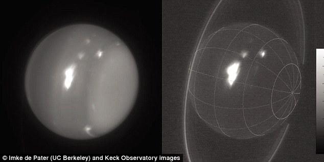 Astrônomos detectam tempestades violentas em Urano