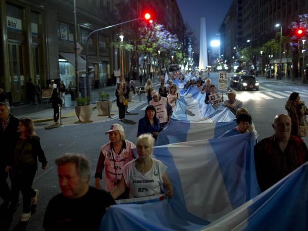 Oposição protesta contra o governo argentino