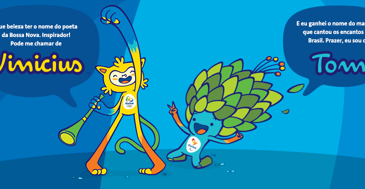 Definidos os nomes dos mascotes dos Jogos Olímpicos Rio 2016