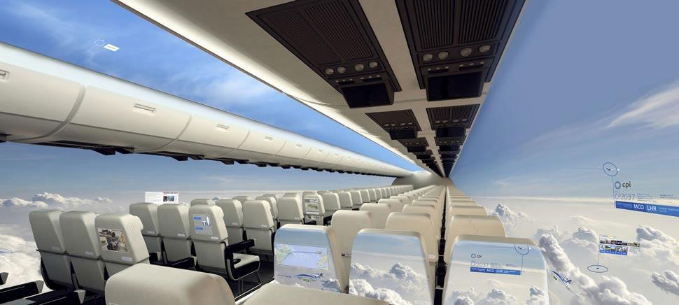 """Um avião transparente é possível? Empresa britânica cria e lança avião """"sem paredes""""."""