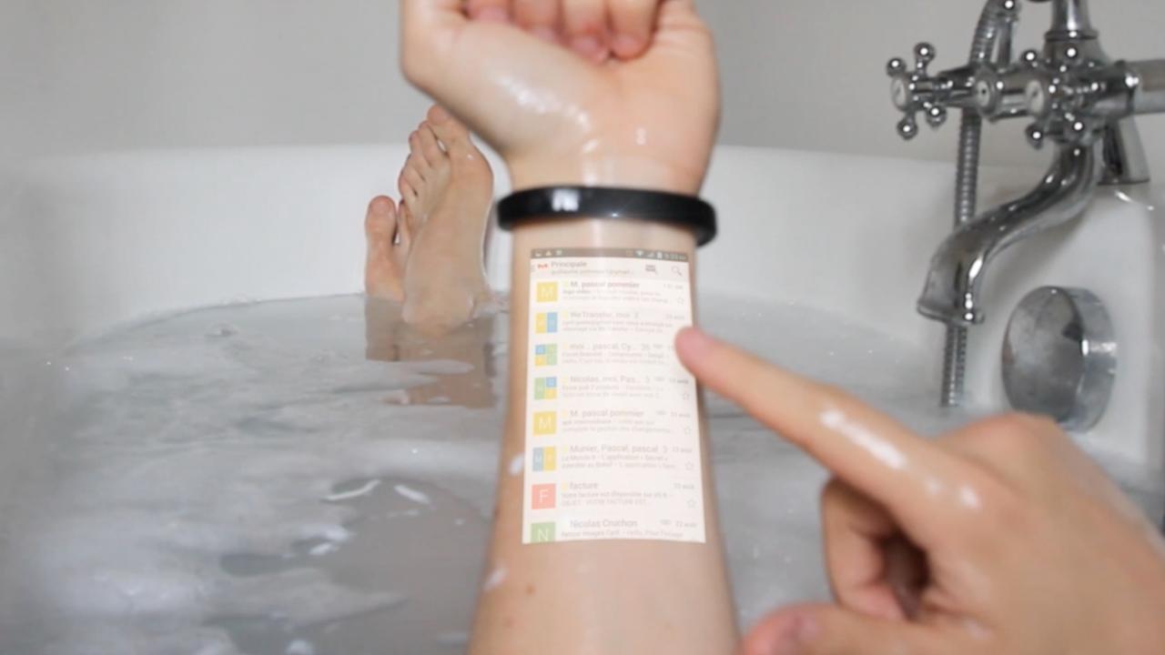 Conheça a pulseira que transforma o seu braço em uma tela sensível ao toque