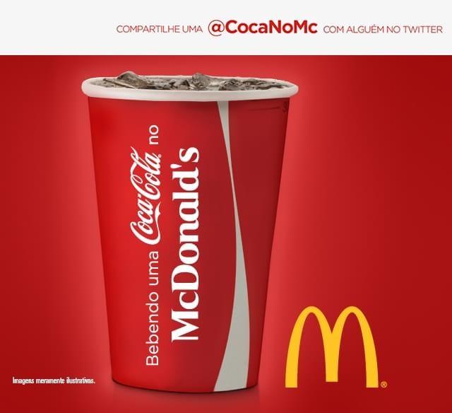 """McDonald's e Coca-Cola fazem ação no Twitter para dar refrigerante """"de graça"""""""