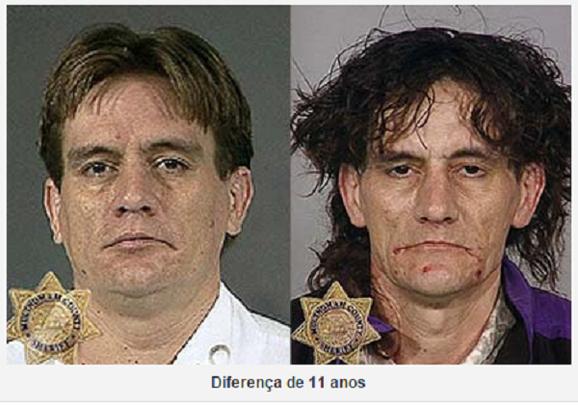 Polícia divulga imagens chocantes mostrando a destruição física de viciados