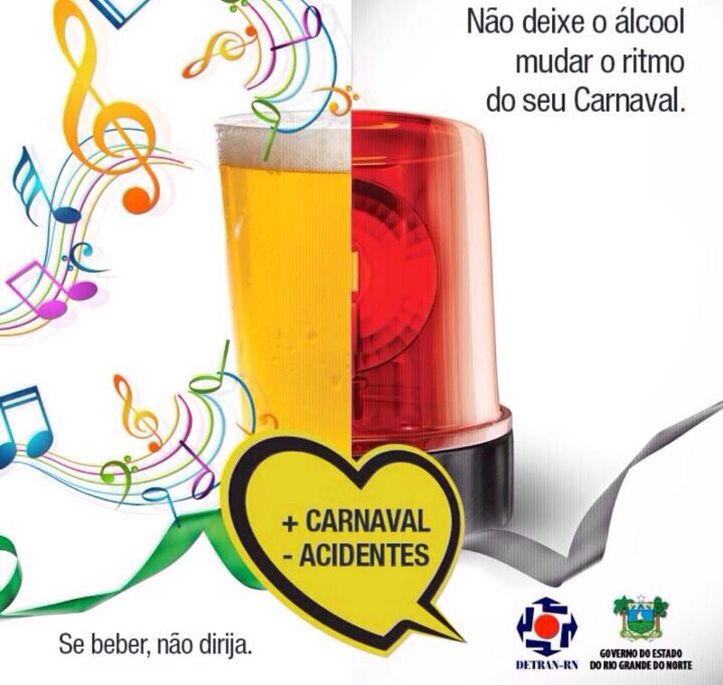 Campanha do Detran alerta para combinação álcool e direção durante Carnaval