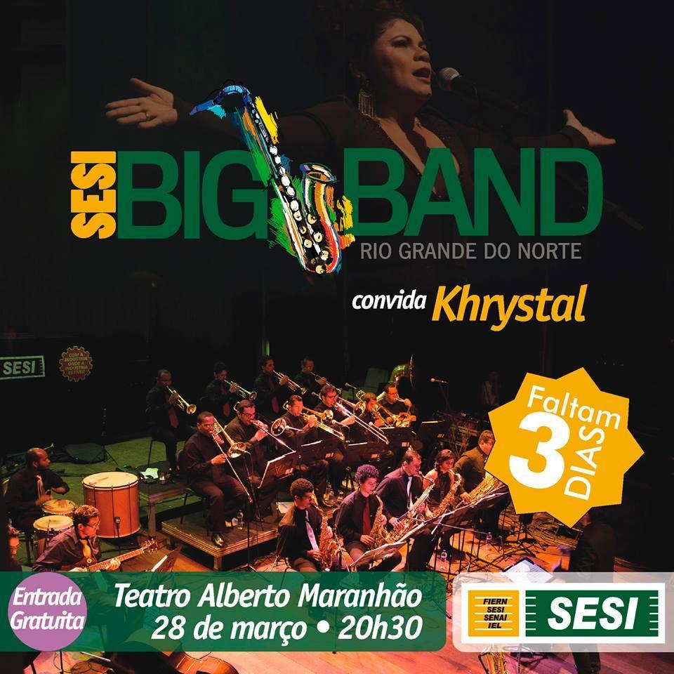 'SESI Arte 2015' reabre os palcos do TAM com a SESI Big Band e Kristal