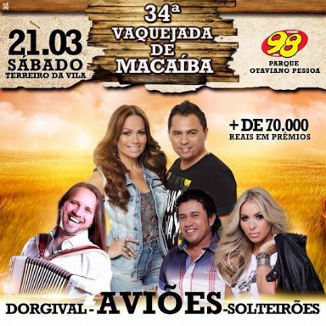 Vaquejada de Macaíba reúne Aviões do Forró, Dorgival Dantas e Solteirões