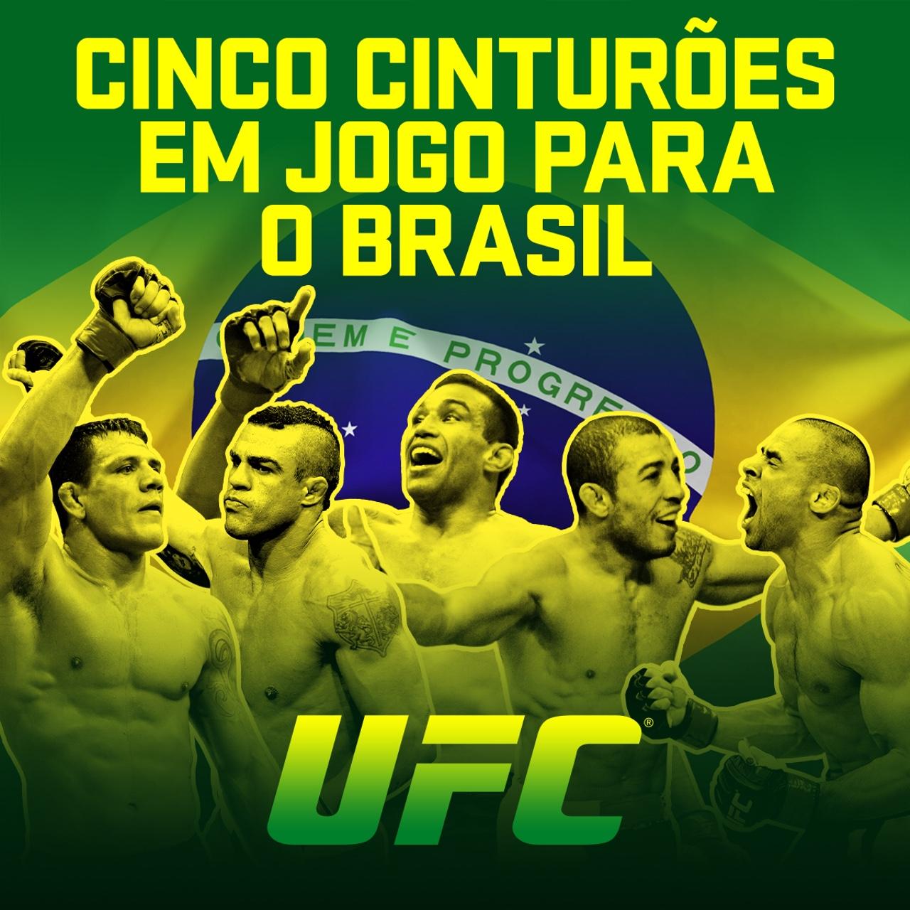 UFC: Brasil terá cinco cinturões em jogo até o mês de julho; confira os duelos