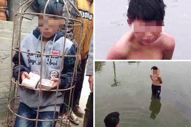 Garoto de 9 anos é preso em jaula e jogado em lagoa por vizinhos após ser acusado de roubo