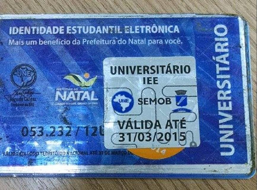 Validade das carteiras de estudante é prorrogada até 30 de abril em Natal