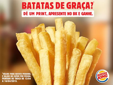 Burger King distribui batatas fritas de graça novamente para clientes