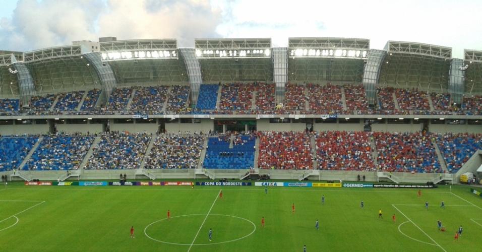 Ministério Público recomenda que Arena das Dunas libere a entrada de torcedores portando bebidas e alimentos