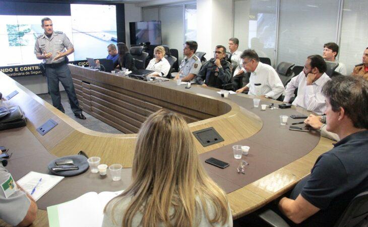Governador reúne auxiliares da Segurança e define áreas para atuação integrada das Polícias Militar e Civil