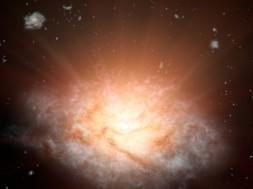 galaxia-mais-brilhante-universo
