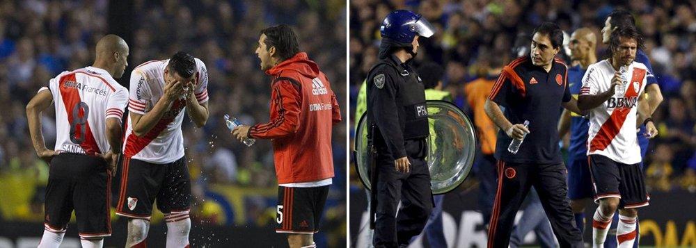Jogadores são atingidos com gás de pimenta e partida da Libertadores é suspensa