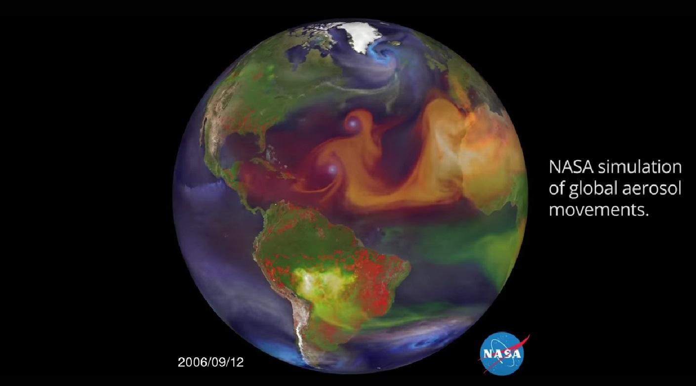 Em vídeo, NASA mostra como a poluição asiática afeta o mundo