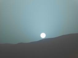 pôr do Sol em Marte é azul