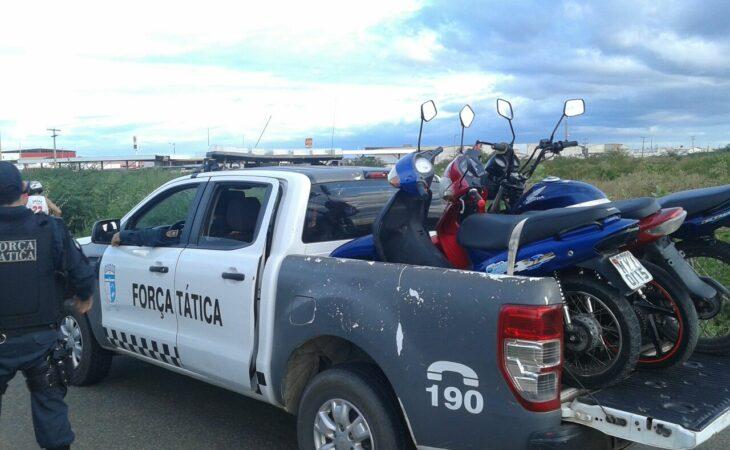 PM apreende 56 veículos em Nísia Floresta e São José de Mipibu