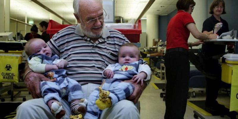 Com tipo raro de sangue, homem já salvou mais de 2 milhões de bebês