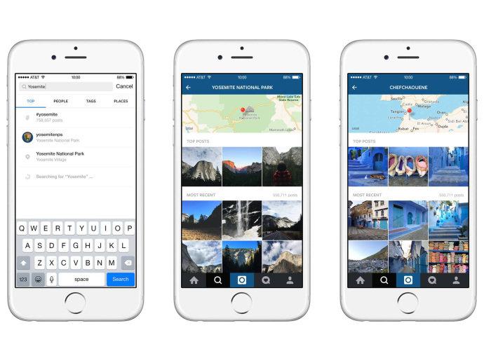 Nova versão do Instagram passa a ter opção de pesquisa por lugares