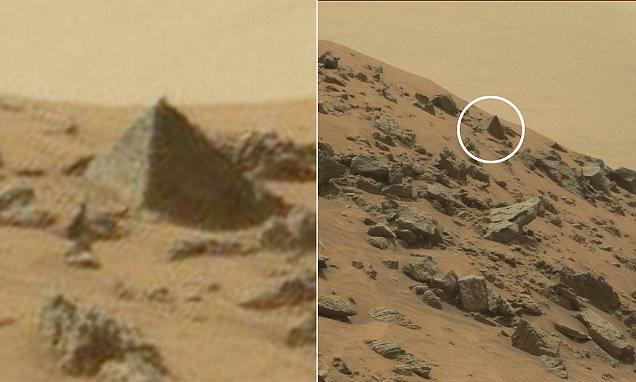 """""""Caçadores de alienígenas"""" descobrem suposta pirâmide em Marte"""