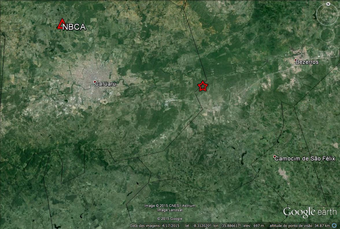 Laboratório da UFRN registra tremor de 3.3 graus em Caruaru