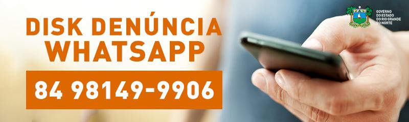 Ciosp disponibiliza número de whatsapp para disk denúncia