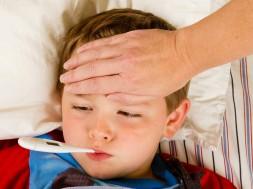criança gripada