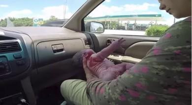 parto no carro