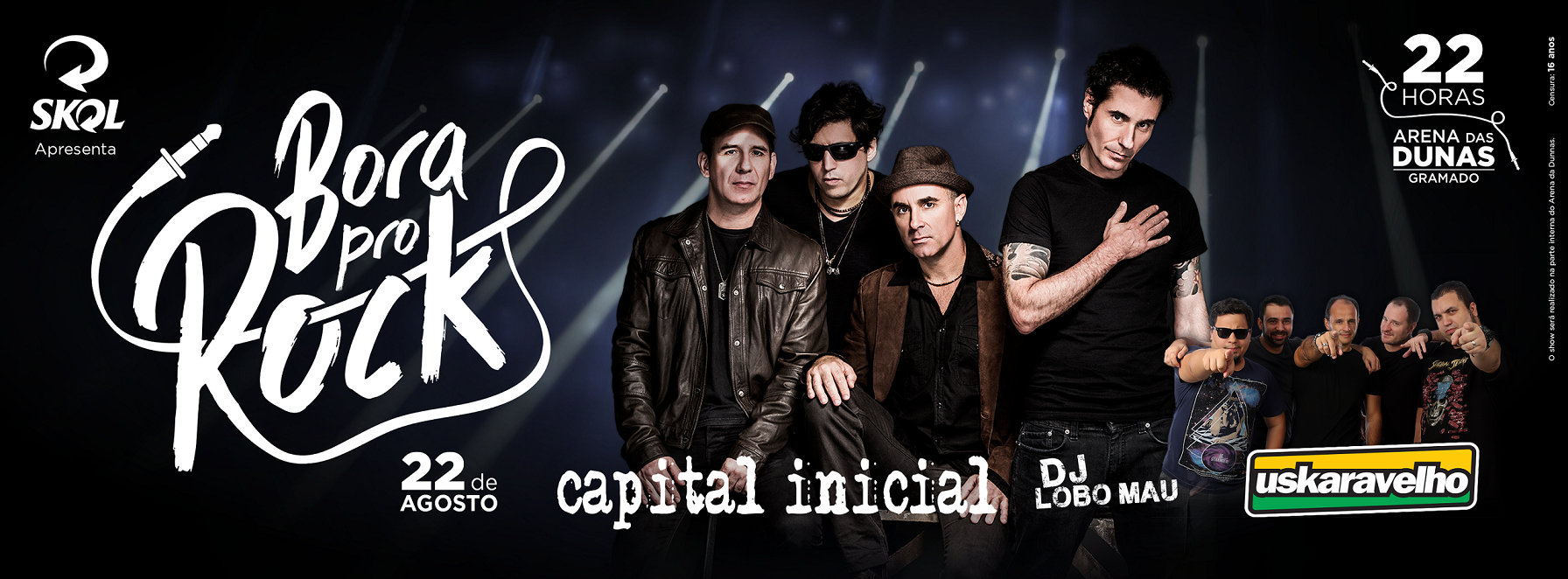 Capital Inicial agita o 'Bora pro Rock' neste sábado na Arena das Dunas