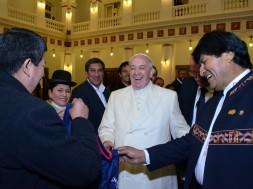 Papa e Evo Morales