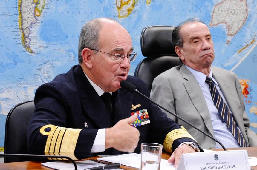 Comandante da Marinha aponta programa nuclear e construção de submarinos como prioridades