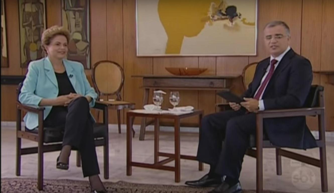 Em entrevista ao SBT Brasil, Dilma diz que não pretende renunciar ao cargo