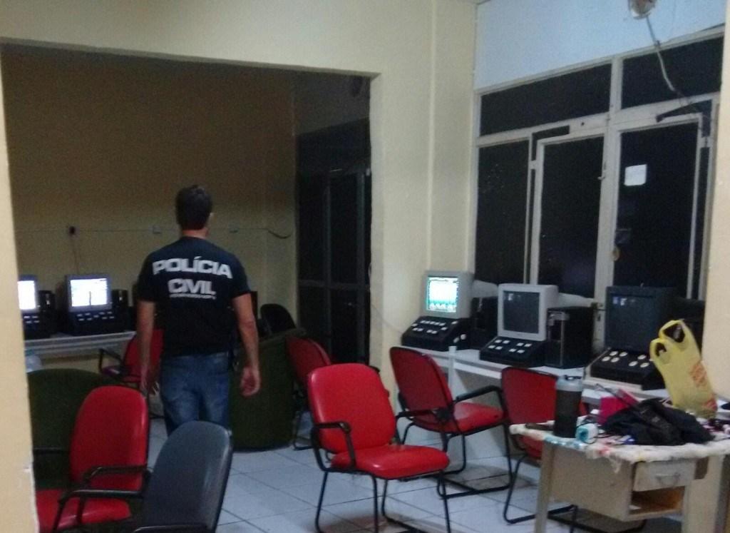 Polícia Civil apreende 20 máquinas de jogos de azar na Cidade Alta