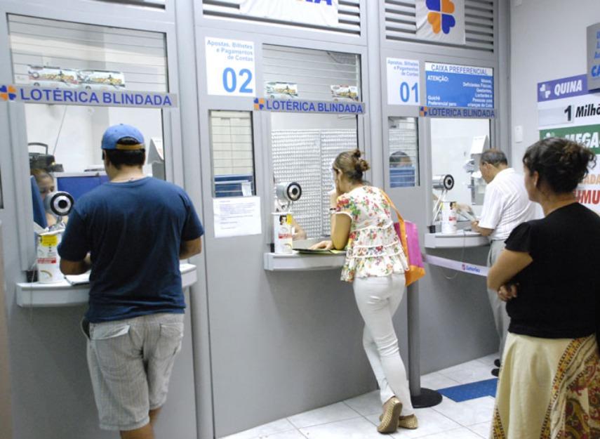 Casas lotéricas terão atividades paralisadas por duas horas nesta quinta (3)