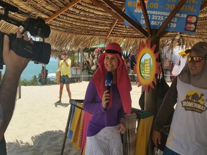Rede TV permanece quatro dias filmando o litoral e o Agreste do RN