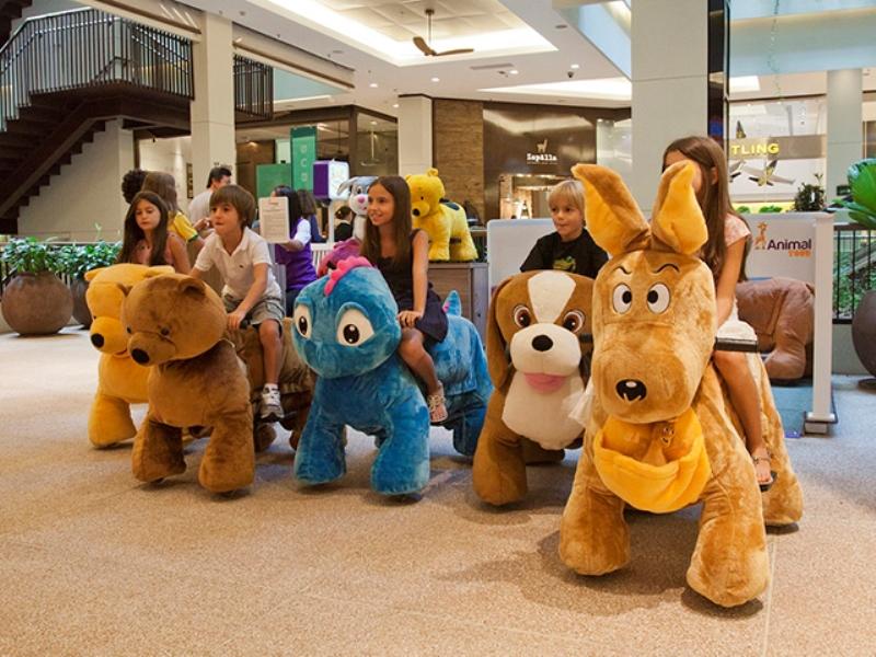 Bichinhos motorizados da Animal Tour chegam ao Natal Shopping