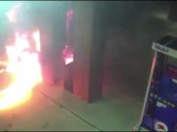 fogo no posto