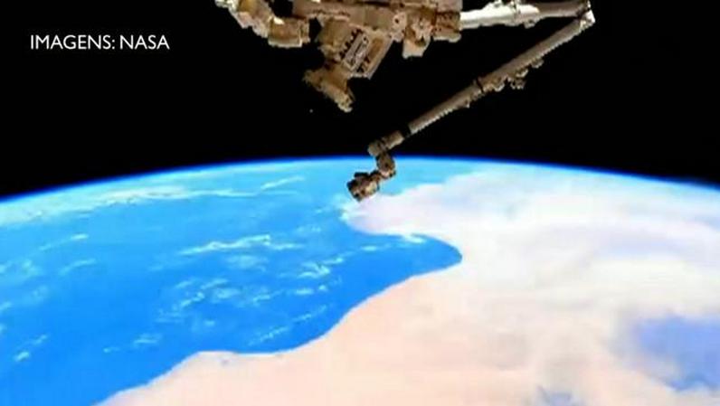 Astronauta filma órbita completa da Terra