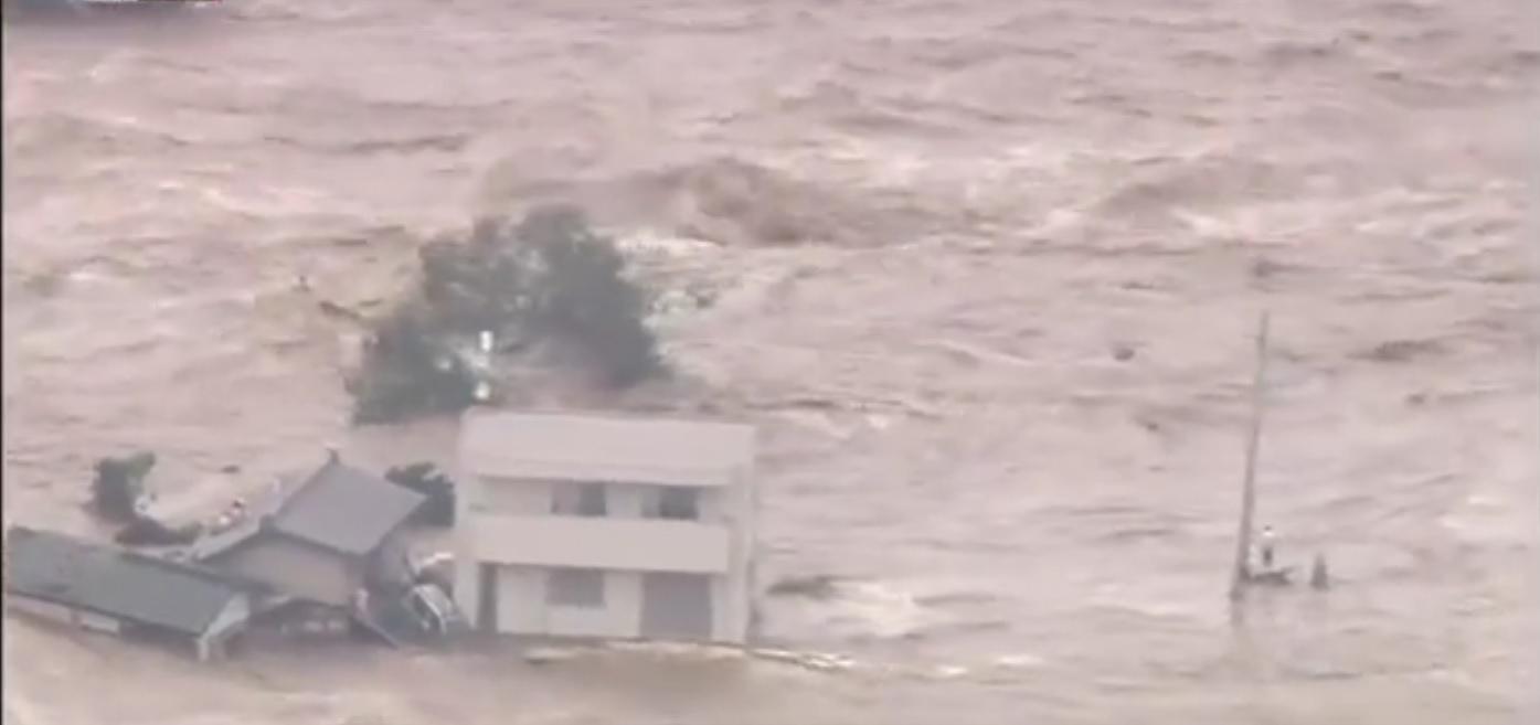 Tempestade tropical evacua 100 mil pessoas no Japão