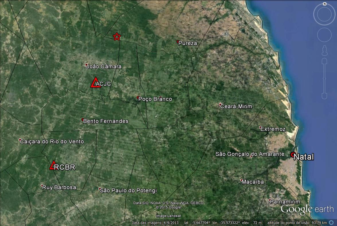 Tremor de magnitude 3.6 é sentido em cidades do RN neste domingo (20)